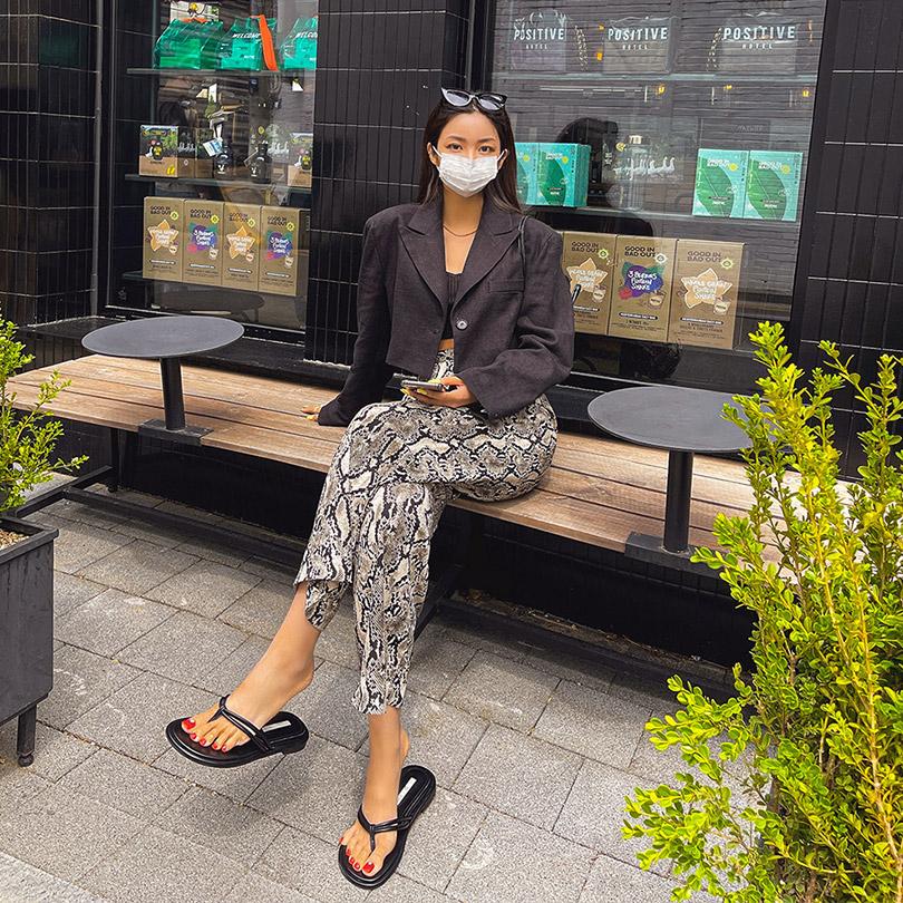 liphop-[원버튼크롭자켓[라미100%]]♡韓國女裝外套