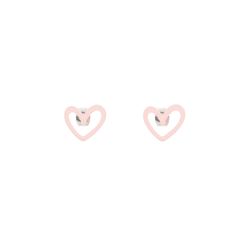 attrangs-ac5016 사랑스러운 무드를 선사할 하트 쉐입의 포인트 이어링♡韓國女裝飾品