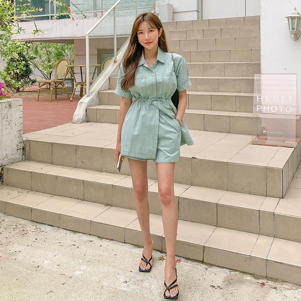 planj-프루 셔츠&팬츠 세트♡韓國女裝套裝