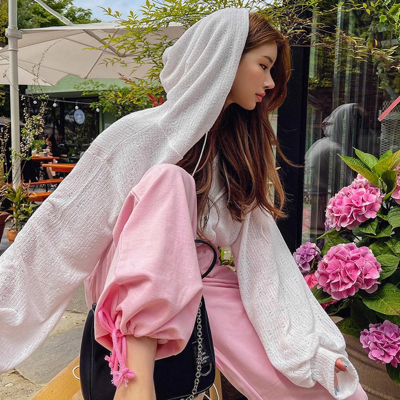 liphop-[썸머크롭후드집업[린넨15%]]♡韓國女裝外套