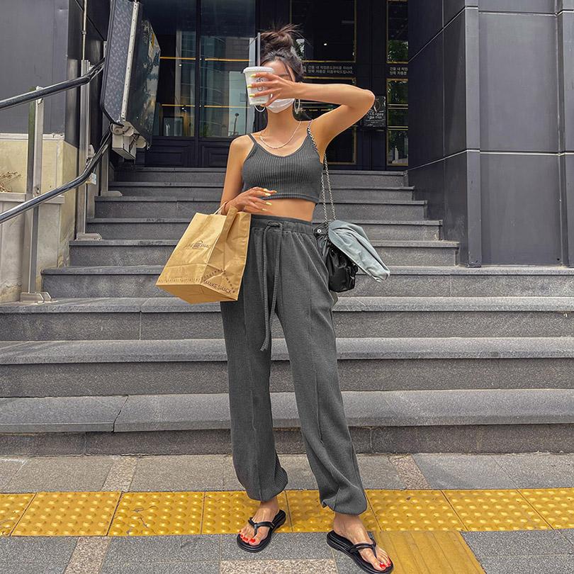 liphop-[콤보밴딩조거팬츠]♡韓國女裝褲