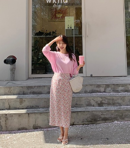 withyoon-로라 floral skirt - made skirt♡韓國女裝裙