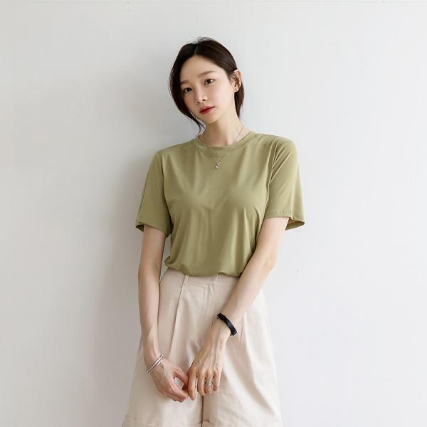 misscandy-[no.20414 쿨아이스 라운드넥 베이직티셔츠]♡韓國女裝上衣