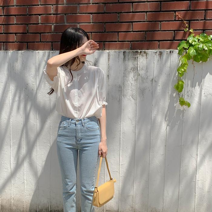 cherrykoko-[브리즈 셔링 블라우스]♡韓國女裝上衣