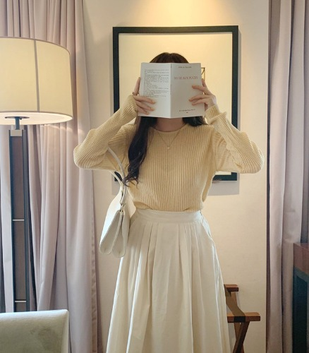 withyoon-비아 golgi knit♡韓國女裝上衣
