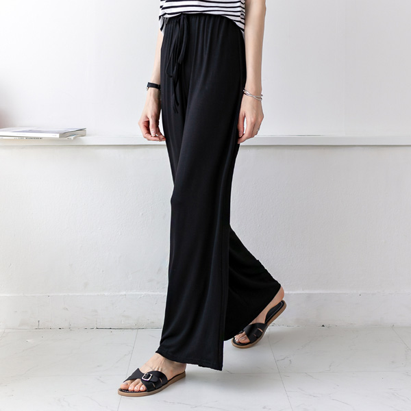 misscandy-[no.20411 와이드핏 레이온+스판 밴딩팬츠]♡韓國女裝褲