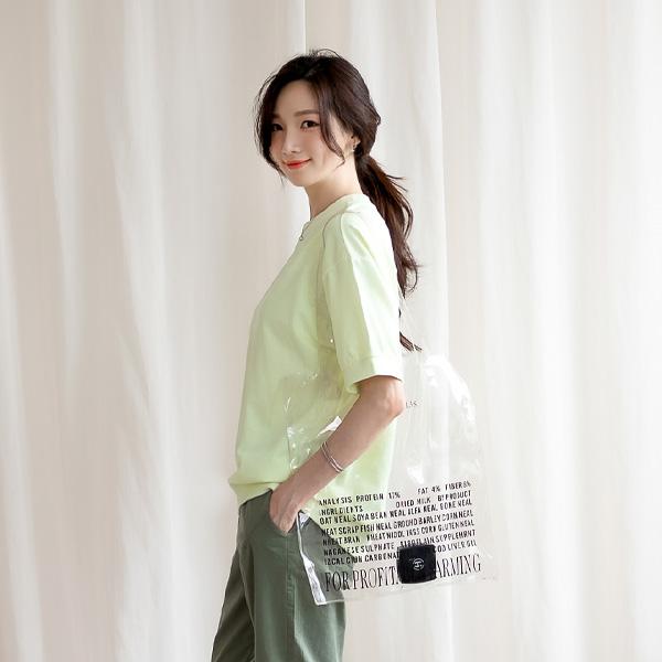 misscandy-[no.20415 루즈핏 백라벨 맨투맨탑]♡韓國女裝上衣