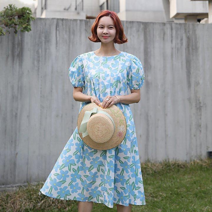 lemite-수채꽃 원피스♡韓國女裝連身裙