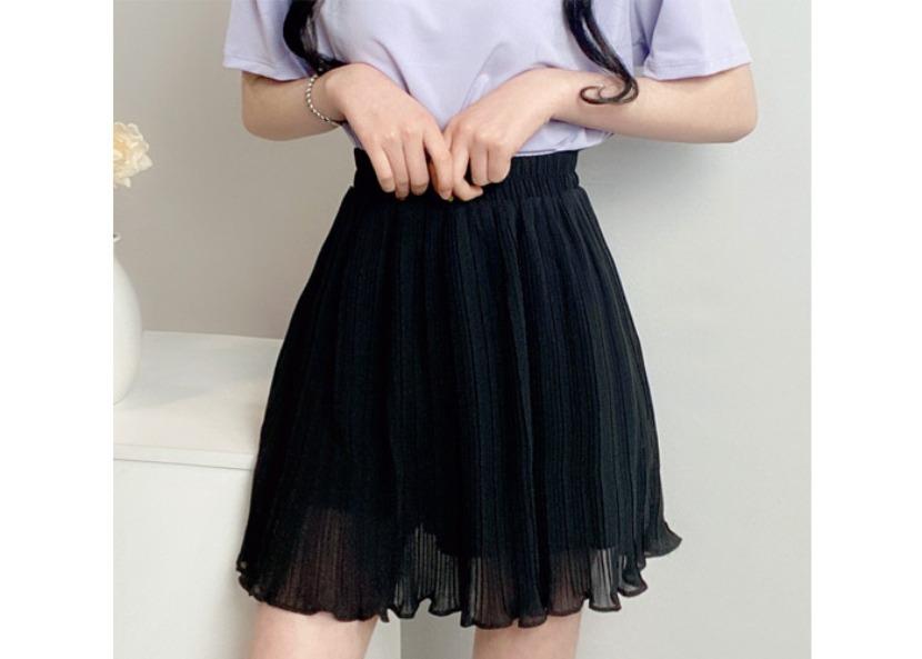 be-witch-플리츠 주름 밴딩 치마바지♡韓國女裝裙