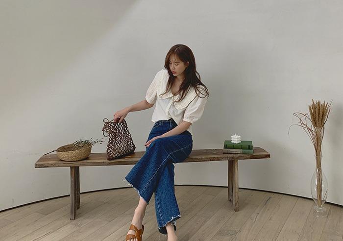 prostj-맨디 카라 블라우스 (3colors)♡韓國女裝上衣