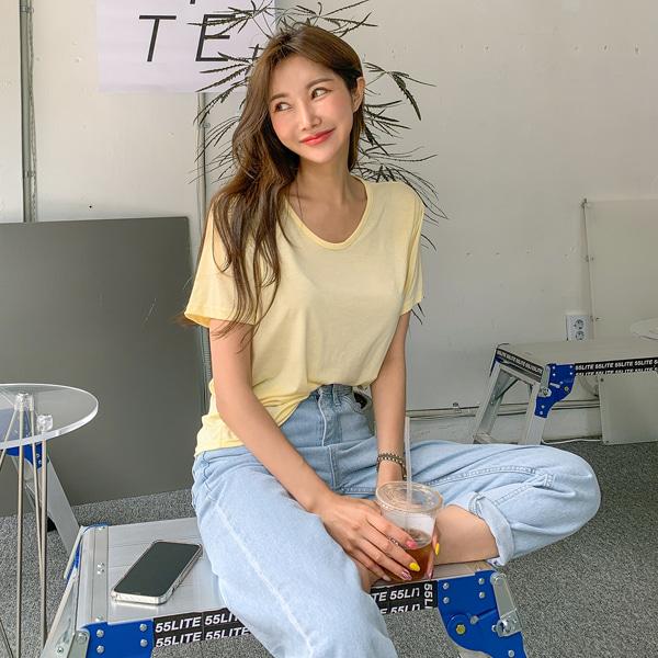 planj-10컬러 베이직 티셔츠♡韓國女裝上衣