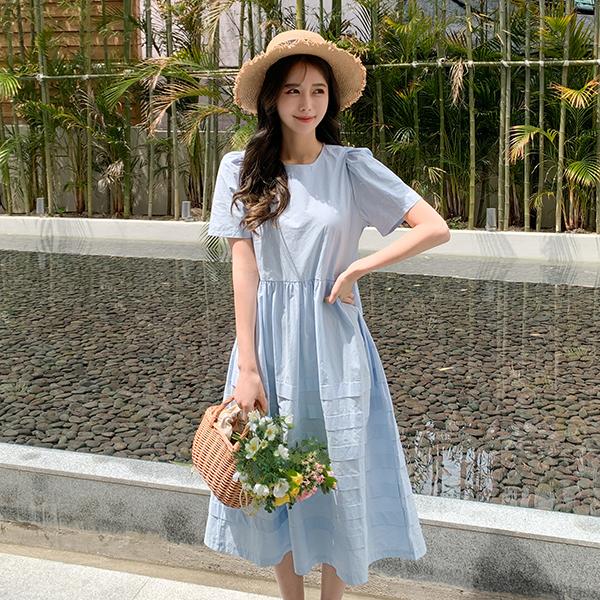 canmart-[퍼프스텔원피스 C042931]♡韓國女裝連身裙