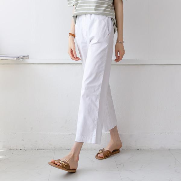 misscandy-[no.20426 레드스티치 세미와이드핏 밴딩팬츠]♡韓國女裝褲