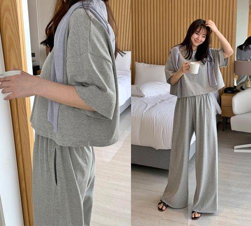 theozzang-브리앙뜨 이지룩팬츠set♡韓國女裝套裝