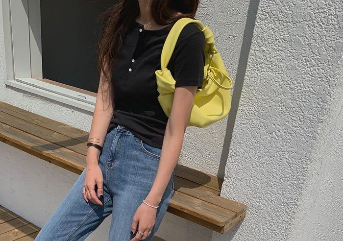 prostj-샌더스 버튼 반팔 T (5colors)♡韓國女裝上衣