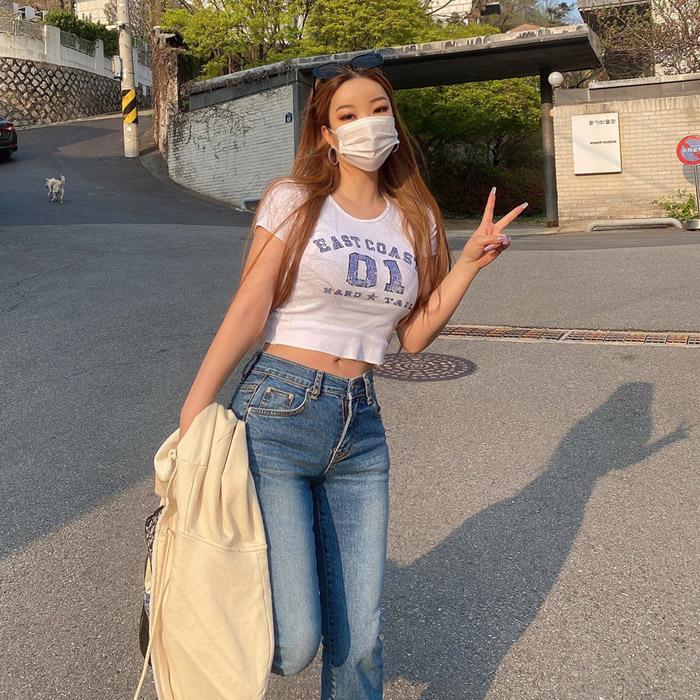 hypnotic-[원크랙크롭 티셔츠]♡韓國女裝上衣