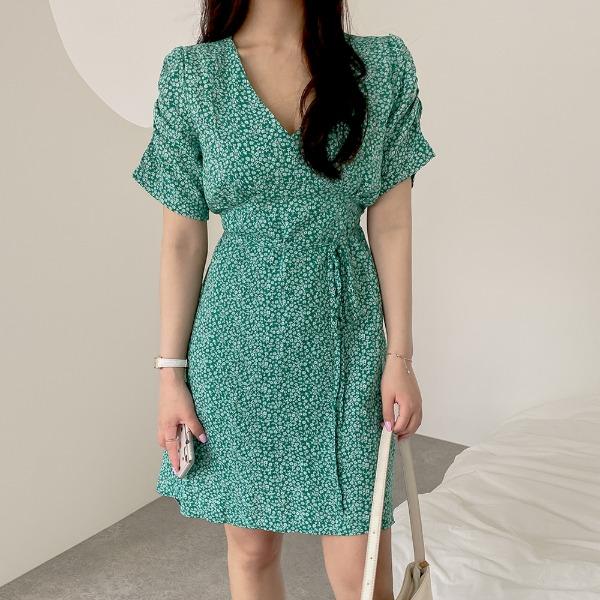 realcoco-♥NEW10%할인♥ 토넛 플라워 미니 원피스(데이트룩/나들이룩)♡韓國女裝連身裙
