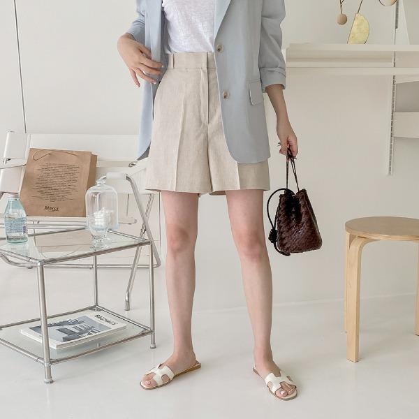 realcoco-♥NEW10%할인♥ 콥스 린넨 데일리 반바지(나들이룩/데일리)♡韓國女裝褲