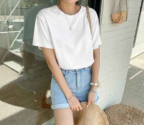 white-fox-[쿨링베이직반팔티셔츠]♡韓國女裝上衣