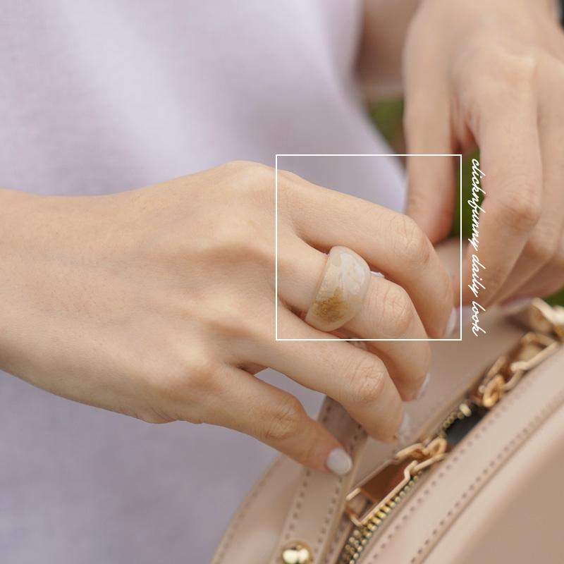 clicknfunny-로팅 아크릴반지♡韓國女裝飾品