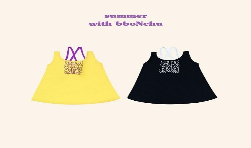 lovely2min-뽀앤츄 하이틴원피스(S~2XL) - lovely2min♡韓國童裝連身裙