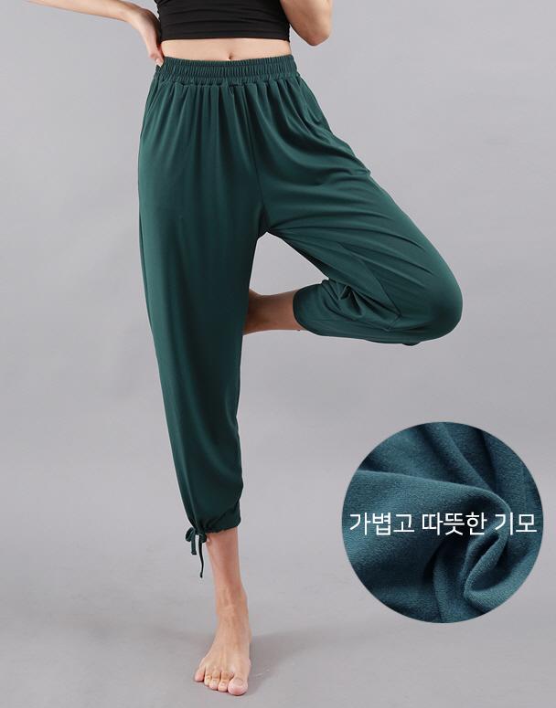 chamar-[CP230 웜 기모 베키(딥그린)]♡韓國瑜伽女裝褲