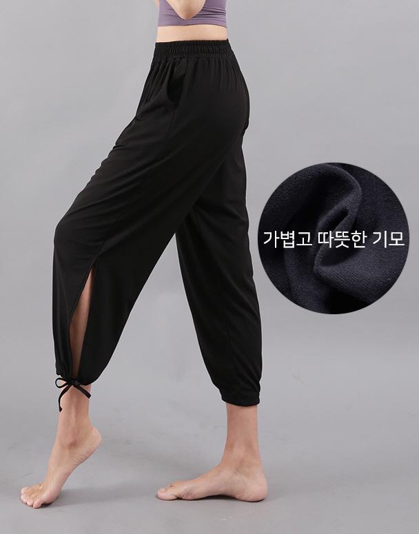 chamar-[CP230 웜 기모 베키(블랙)]♡韓國瑜伽女裝褲