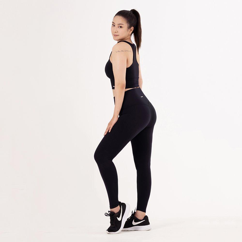skullpig-플렉스 에어 레깅스 아크 블랙 (씬님레깅스)♡韓國瑜伽女裝褲