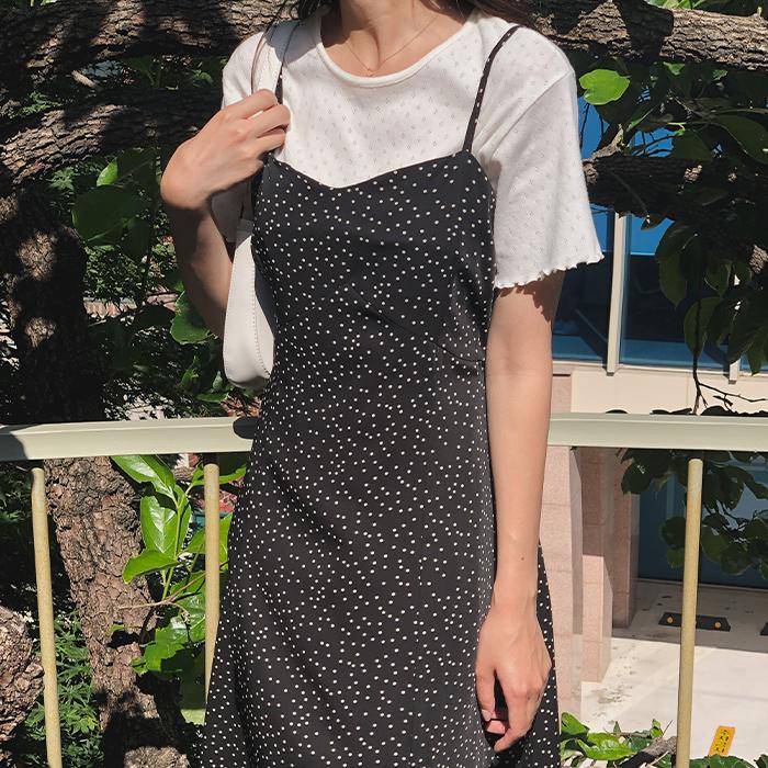 cherrykoko-[도트 뷔스티에 원피스]♡韓國女裝連身裙