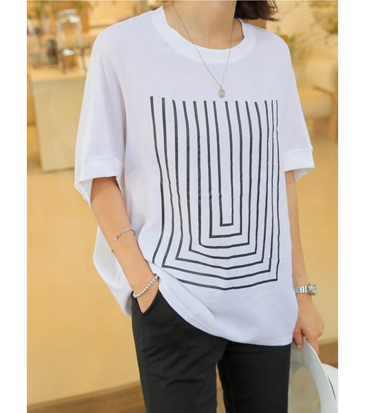 roompacker-룸페커 [오버핏 린넨 가오리 티셔츠]♡韓國女裝上衣