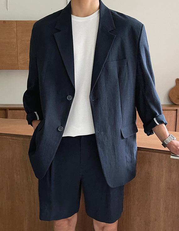 jogunshop-[르마인 린넨 자켓Free(95~105)]♡韓國男裝外套