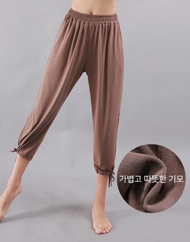 chamar-[CP230 웜 기모 베키(브라운)]♡韓國瑜伽女裝褲