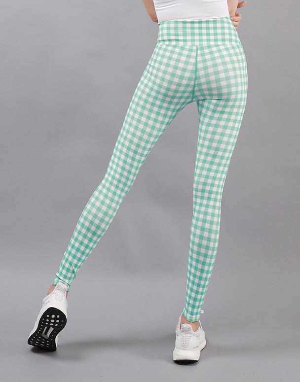 chamar-[CP196 체크제이(민트)]♡韓國瑜伽女裝褲