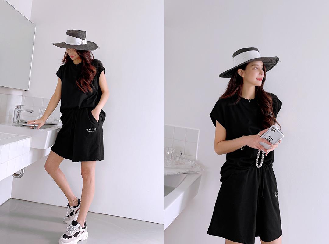 naning9-모셀스 나염나시팬츠세트(C05)♡韓國女裝套裝