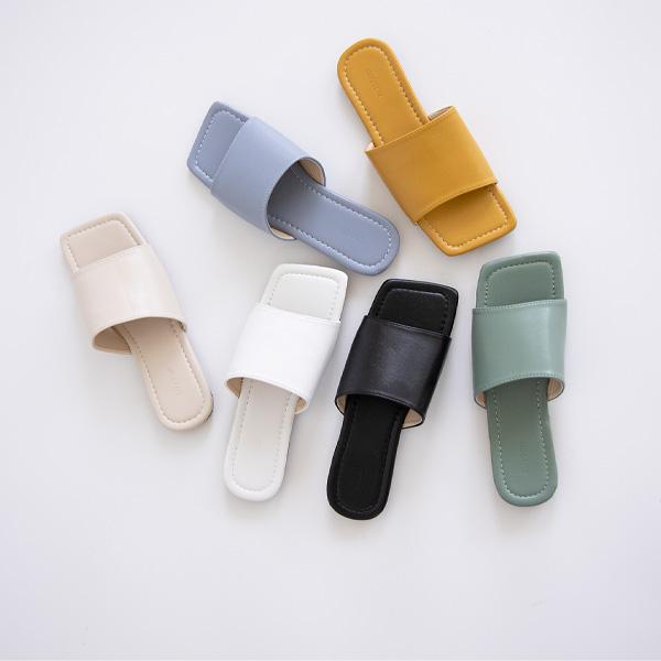 misscandy-[no.20568 데일리 스트랩 컬러 슬리퍼]♡韓國女裝鞋