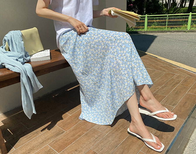 chichera-세련된 그녀들의 선택, 시크헤라[봉봉플라워밴딩스커트]♡韓國女裝裙