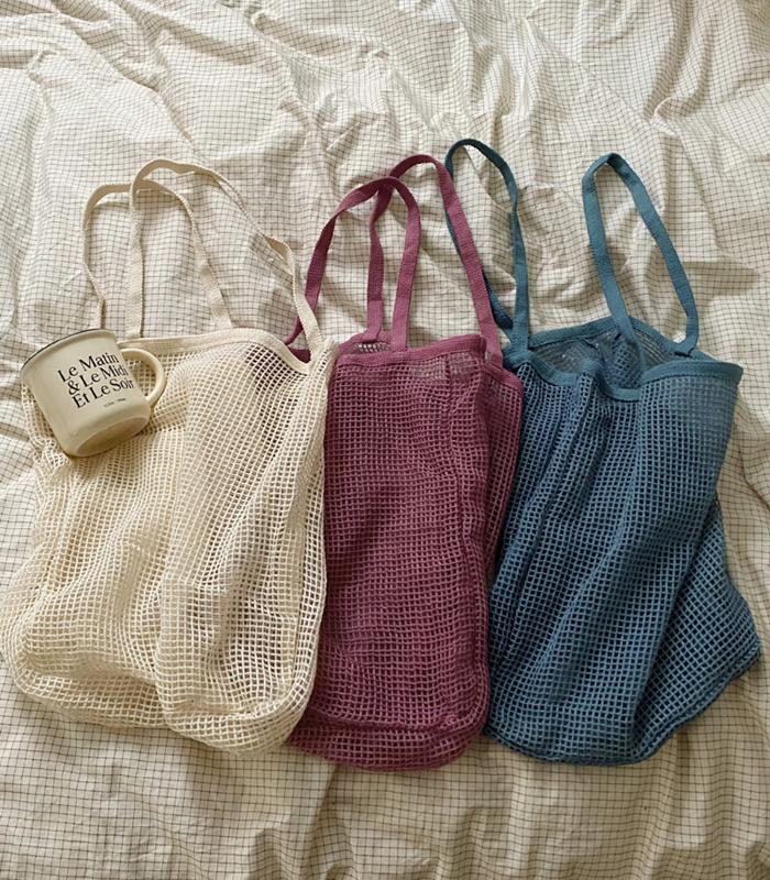 sibuya-[메쉬 에코 백]♡韓國女裝袋