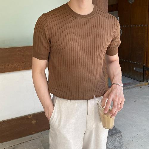 modernsweet-이너스 골지 라운드 니트 7color - 모던스윗(modernsweet)♡韓國男裝上衣