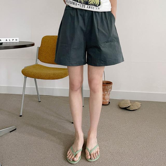 banharu-반하루[엘비 와이드 밴딩 숏팬츠]♡韓國女裝褲
