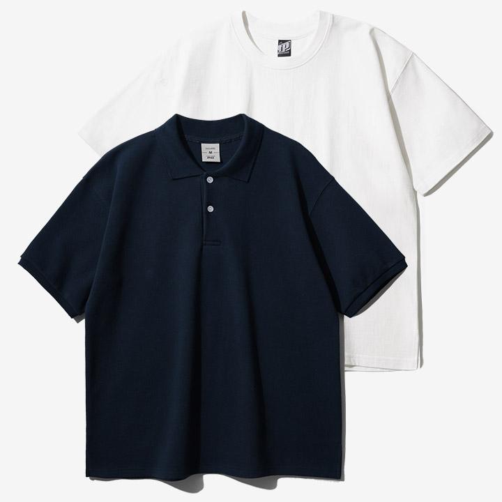 fairplay142-[[6/16배송][페플][패키지] 컴포트 카라 반팔티 SJST1309+오리지널 루즈핏 반팔 1+1 OGST1905]♡韓國男裝上衣