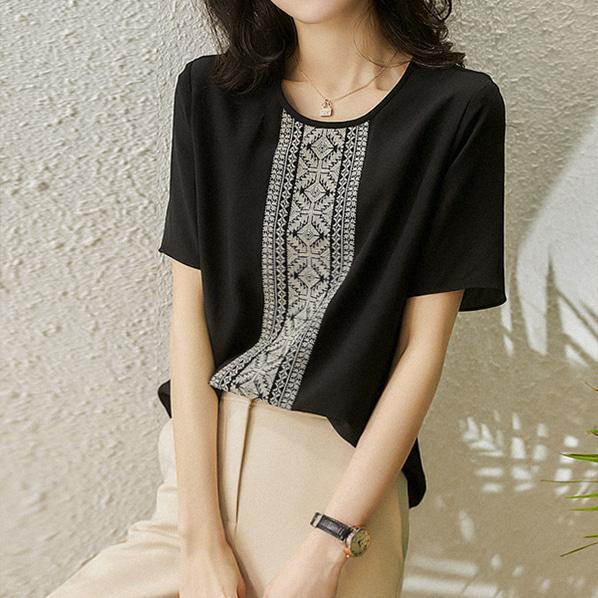 fashion-full-샤도 라운드 블라우스(TIME SALE 20%)♡韓國女裝上衣