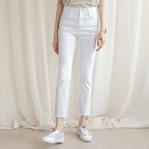 misscandy-[no.20567 밑단커팅 히든밴딩 면스판 일자팬츠]♡韓國女裝褲