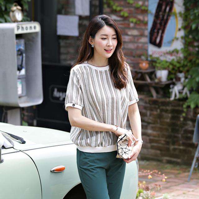 tiramisu-6614보트넥시보리블라우스티♡韓國女裝上衣