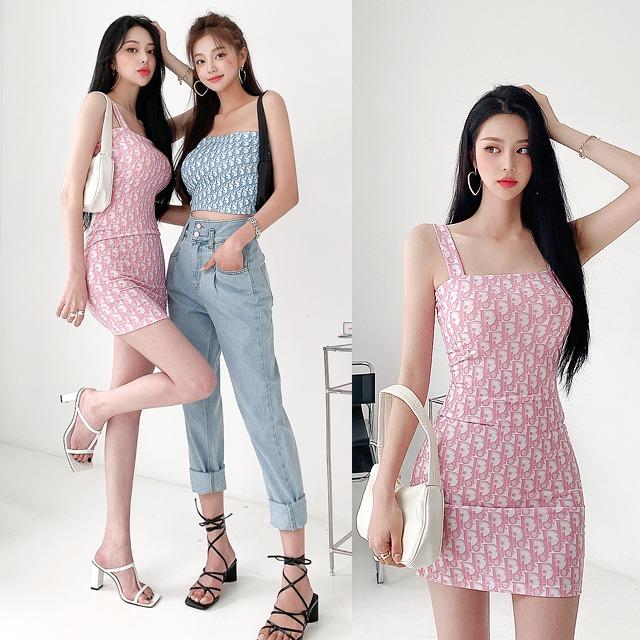 sweetglam-포르티아 패턴 원피스♡韓國女裝連身裙