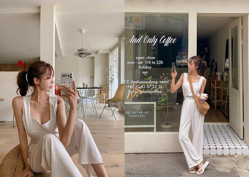 maybins-주니엘 슬리브리스&팬츠set♡韓國女裝套裝