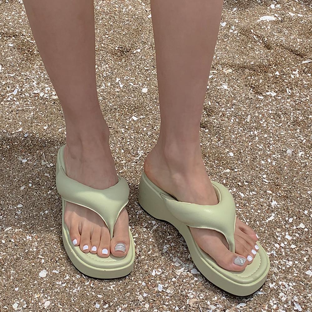 blackup-쿤츠 플랫폼 쪼리♡韓國女裝鞋