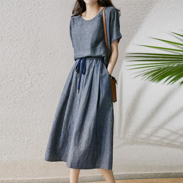 fashion-full-하우 롤업 블라우스 & 와이드 밴딩 팬츠 SET(TIME SALE 20%)♡韓國女裝套裝