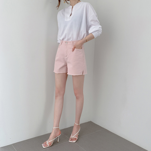 partysu-[Cutting cotton shorts]♡韓國女裝褲