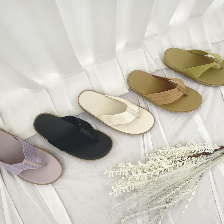 blancjo-패브릭 라인 쪼리 슬리퍼_ss03969♡韓國女裝鞋
