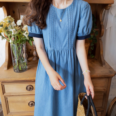 leelin-[페스티아 썸머청 원피스[size:F(55~66)]]♡韓國女裝連身裙